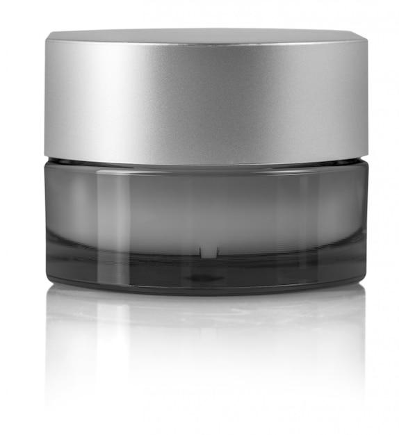 Crème cosmétique en conteneur isolé on white Photo Premium
