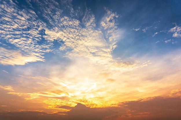 Crépuscule ciel et nuage Photo Premium