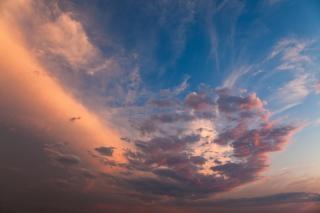 Crépuscule nuages célestes Photo gratuit