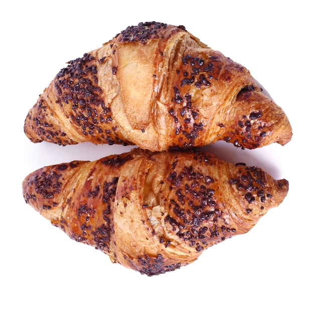 Croissants Sur La Table Photo gratuit