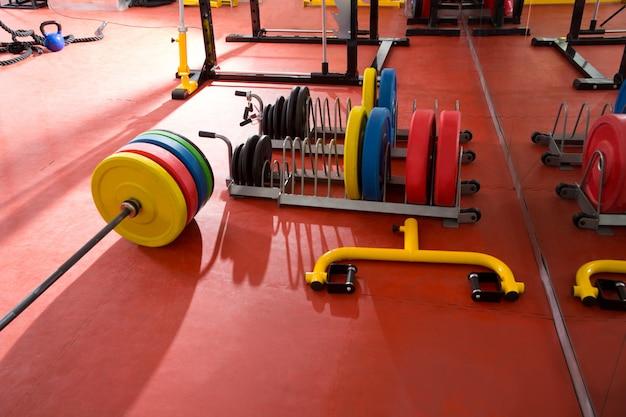 Crossfit fitness gym haltérophilie équipement de bar Photo Premium
