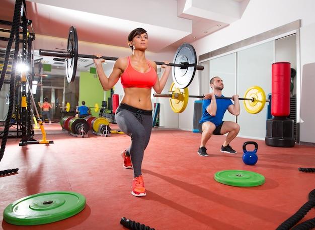 Crossfit fitness gym haltérophilie groupe Photo Premium