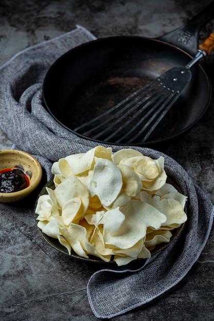 Croustilles Croustillantes à La Sauce Tomate Snack Concept. Photo gratuit