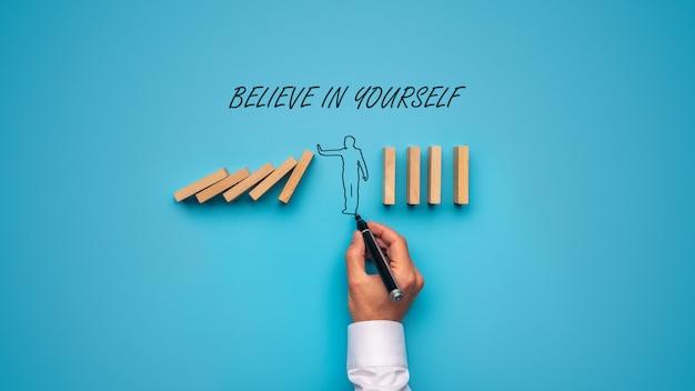 Croyez En Vous-même Signe Photo Premium