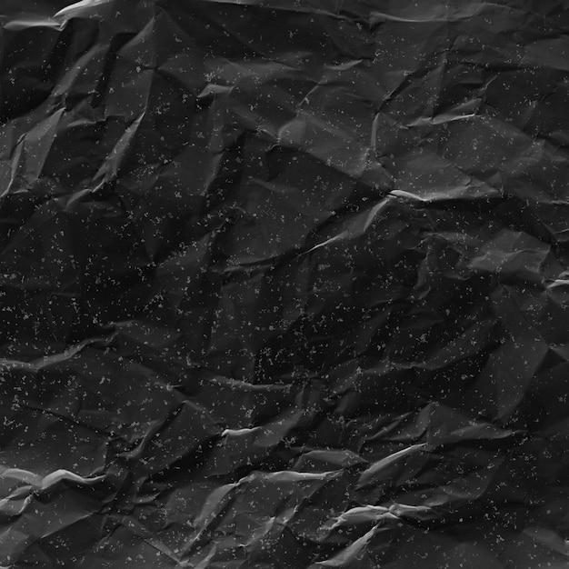 Crumpled Paper Texture Noire Photo gratuit