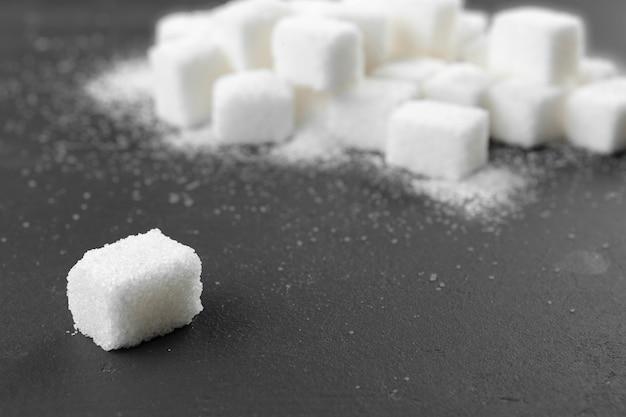 Cubes De Sucre Blanc Photo Premium