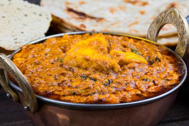 Cuisine indienne kadai paneer food Photo Premium