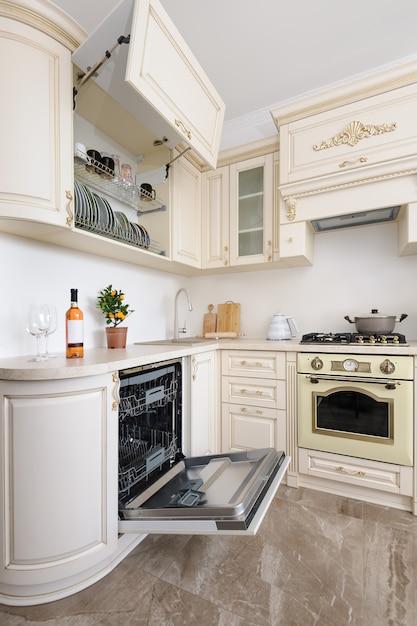 Cuisine de luxe moderne de couleur beige | Télécharger des ...