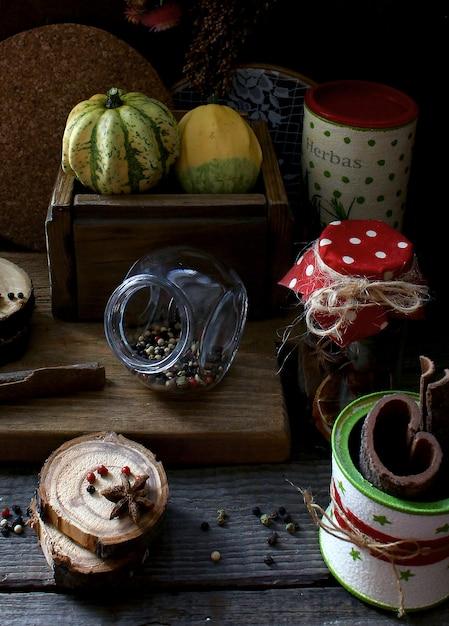 Cuisine rustique aux épices Photo Premium