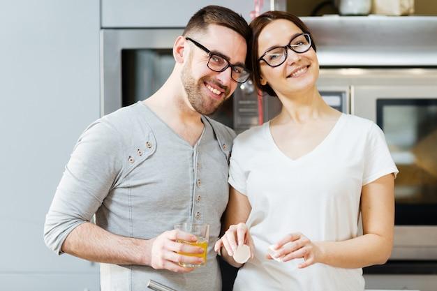 Cuisiniers Amoureux Photo gratuit