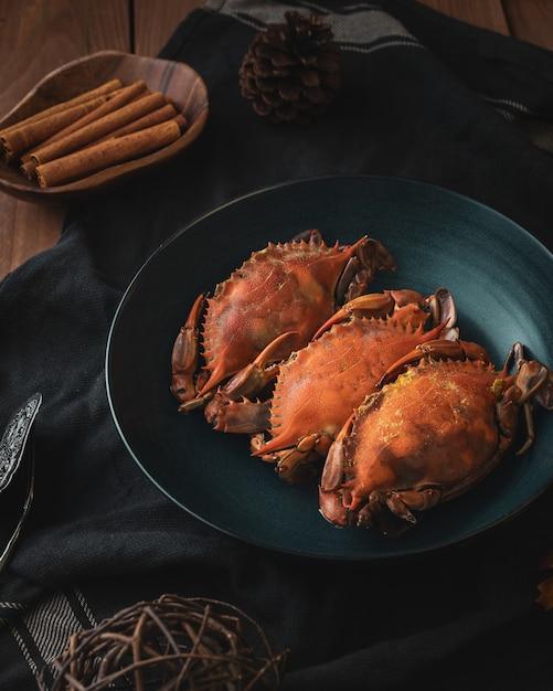 Cuisson Des Crabes Photo gratuit