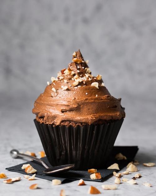Cupcake Au Chocolat Délicieux Gros Plan Photo gratuit