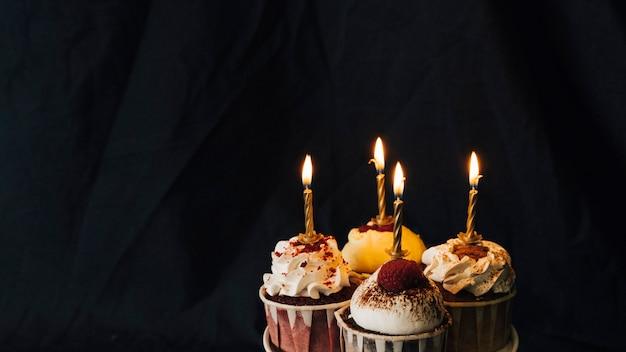 Cupcake nature morte Photo gratuit