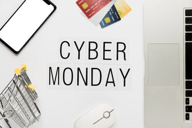 Cyber lundi shopping en ligne Photo gratuit