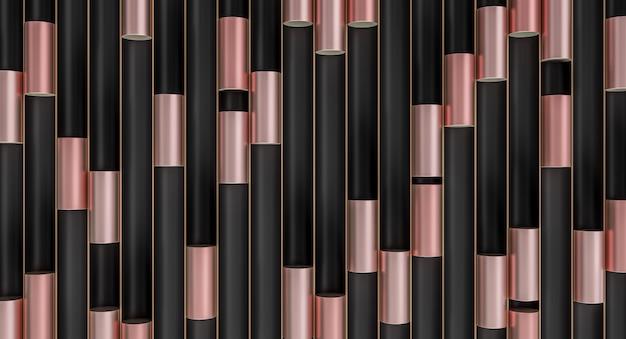 Cylindres Métalliques Dans Des Tubes Noirs Photo Premium