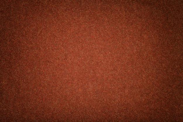 Daim Mat Orange Foncé Texture Velours En Feutre, Photo Premium