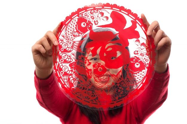 Dame vacances geste un asiatique Photo gratuit