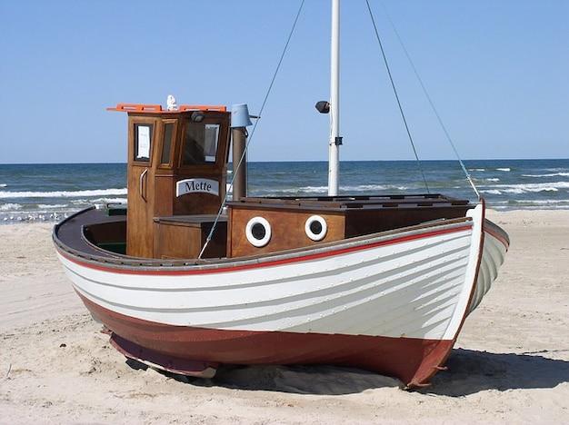 Danemark Mer Bateau De Pêche Lkken Plage Nord Photo gratuit
