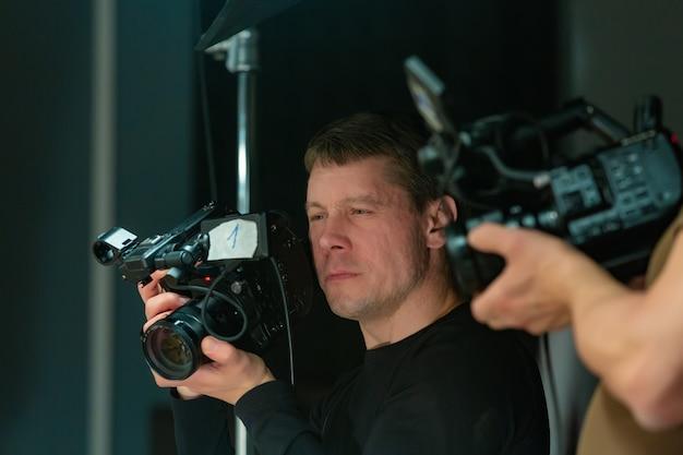 Dans Les Coulisses De La Production Vidéo Ou Du Tournage Vidéo Photo Premium