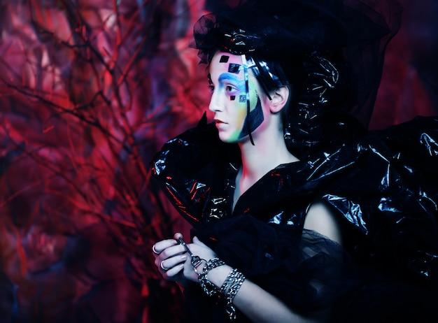 Dark Beautiful Gothic Princess. Photo Premium