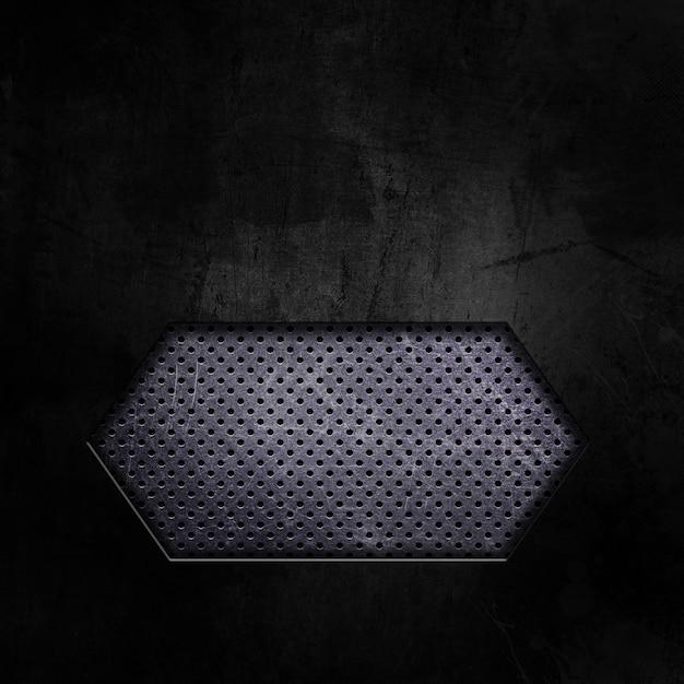 Dark grunge avec découpe montrant le métal perforé Photo gratuit