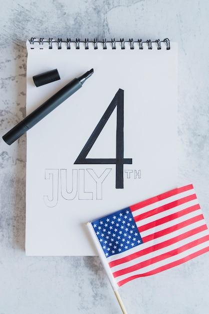 Date du jour de l'indépendance américaine Photo gratuit