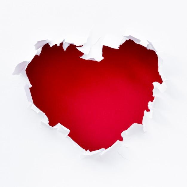 Déchirer Le Cœur Pour La Saint-valentin Photo gratuit