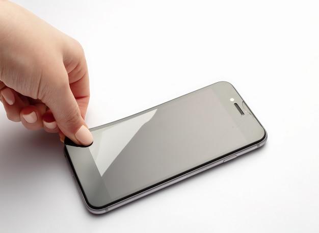 Déconnexion De La Vitre De Protection Du Smartphone. Photo Premium