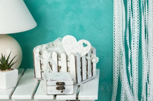 Décor De Mariage Blanc Photo Premium