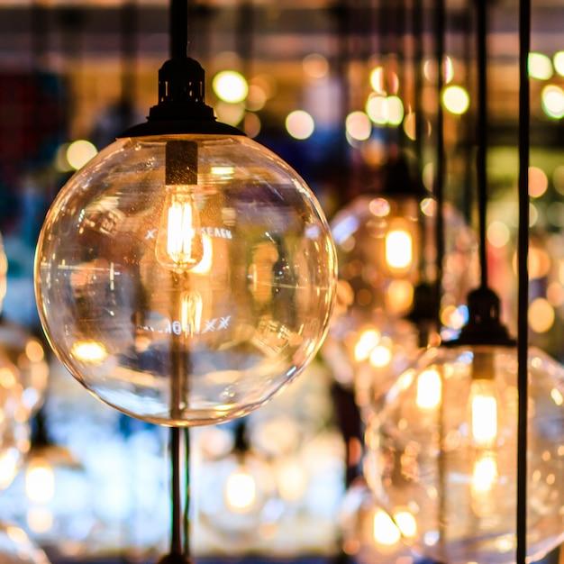 Décor rétro edison light Photo Premium