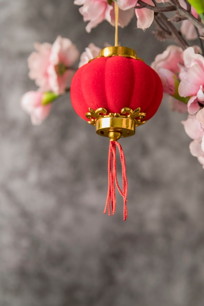 Décoration florale du nouvel an chinois Photo gratuit
