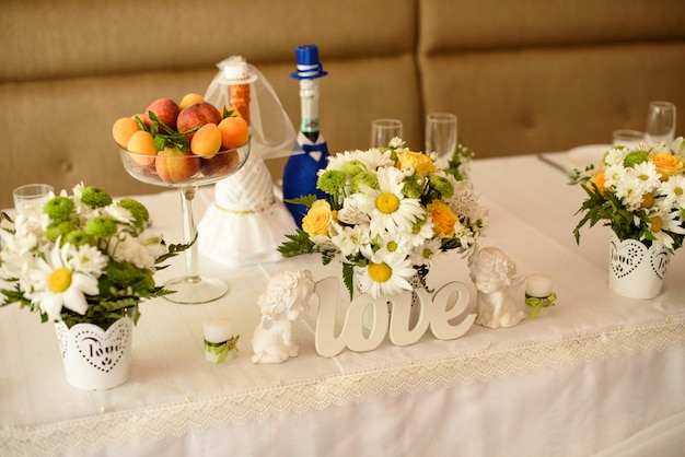 Décoration de mariage. Photo Premium