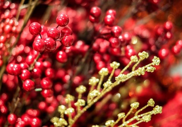 Décoration de noël ilex verticillata ou houx winterberry Photo Premium
