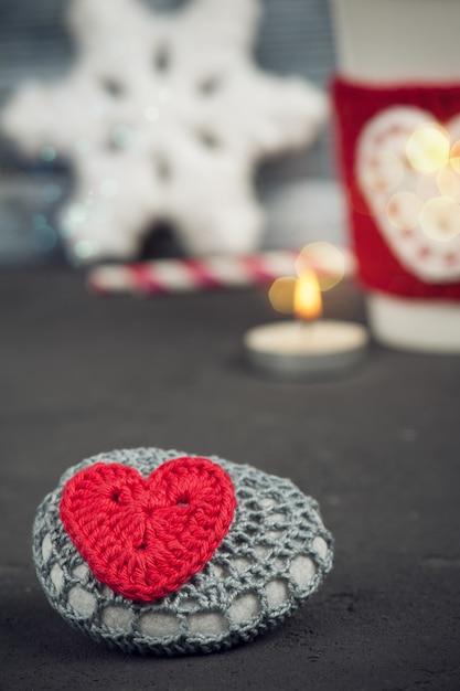 Décoration de noël pierre au crochet Photo Premium