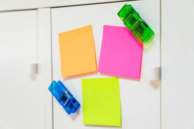 Décoration de notes collantes Photo gratuit