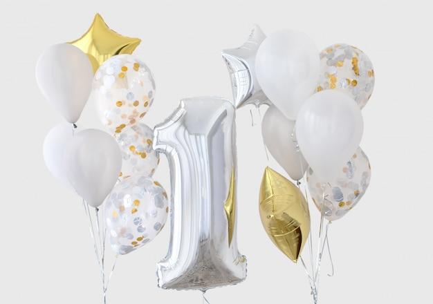 Décoration pour l'anniversaire d'un an Photo Premium