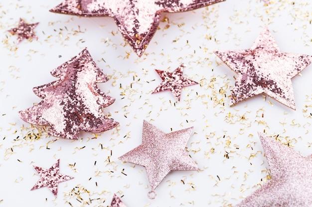 Décorations De Composition De Noël Photo Premium