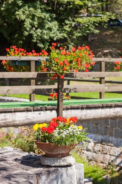 Décorations florales rustiques Photo Premium
