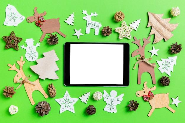 Décorations De Noël. Concept De Bonne Année. Photo Premium