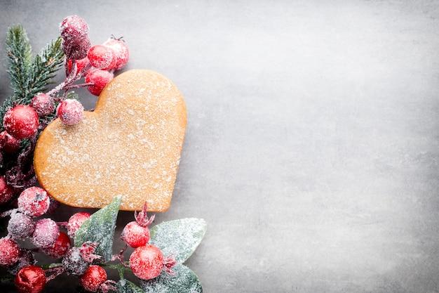 Décorations De Noël Sur Fond Uni Photo Premium