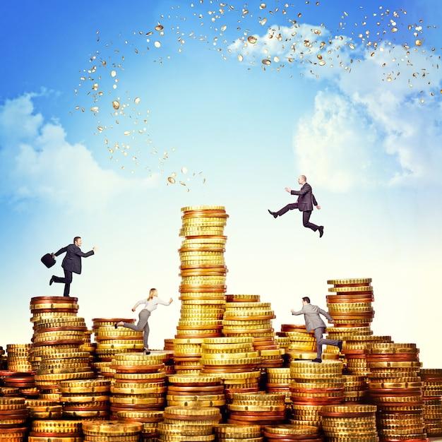 Défi de l'argent Photo Premium