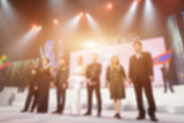 Défocalisation du thème de la cérémonie de remise des prix. fond pour concept d'affaires Photo Premium