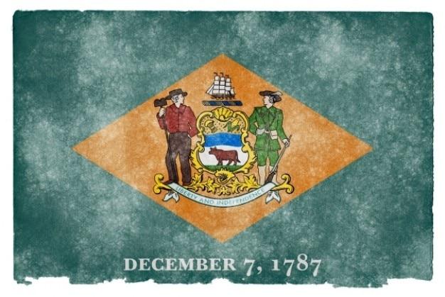 Delaware drapeau grunge Photo gratuit