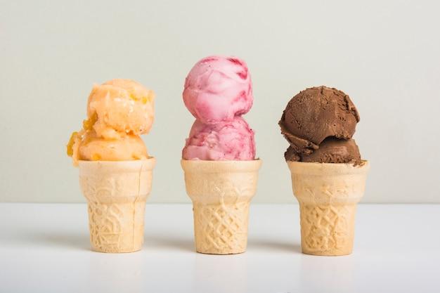 Délicieuse crème glacée Photo gratuit