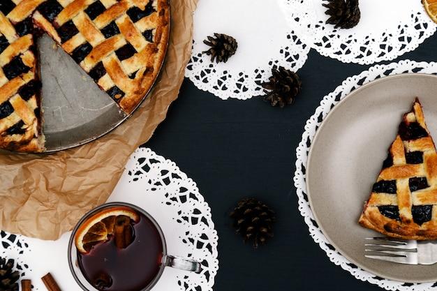Délicieuse tarte aux bleuets Photo gratuit
