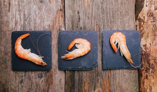 Délicieuses Crevettes Photo gratuit