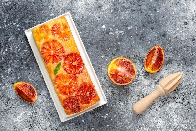 Délicieux Dessert Tarte à L'orange Sanguine. Photo gratuit
