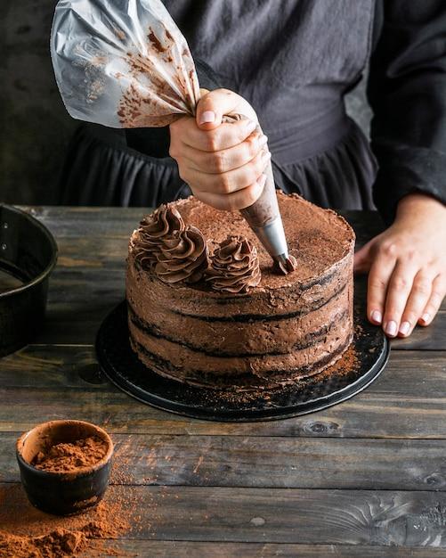 Délicieux Gâteau Au Chocolat Photo gratuit