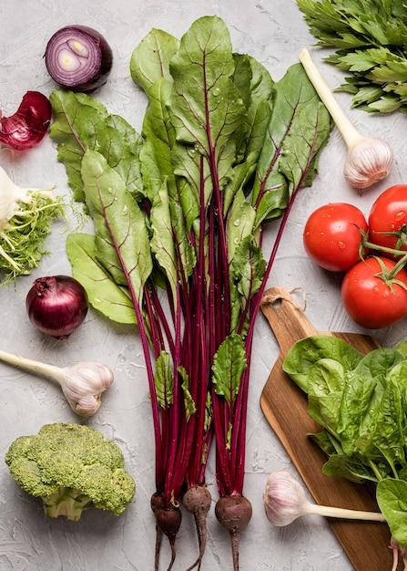 De Délicieux Ingrédients Pour Une Salade Saine Photo gratuit