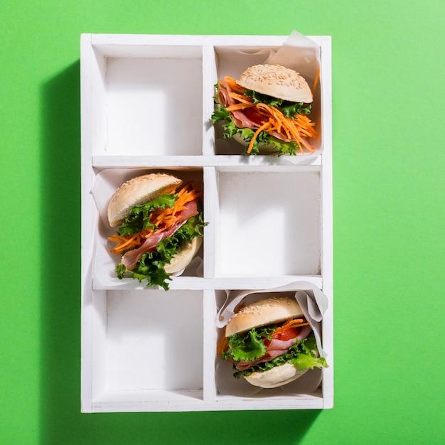 Délicieux Mini Burgers Photo Premium